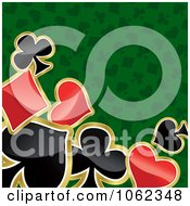 Clipart Green Poker Background Royalty Free Vector Illustration