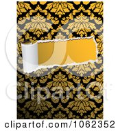 Clipart Torn Paper Through Floral Design 2 Royalty Free Vector Illustration
