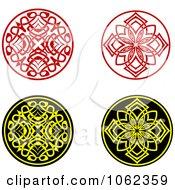 Clipart Greek Design Elements Digital Collage 5 Royalty Free Vector Illustration