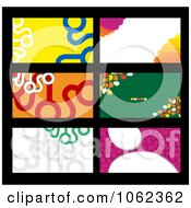 Clipart Business Card Layouts Digital Collage 1 Royalty Free Vector Illustration by Vector Tradition SM