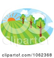 Clipart Spring Landscape Logo 4 Royalty Free Vector Illustration