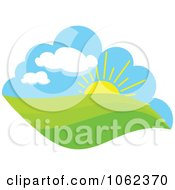 Clipart Spring Landscape Logo 6 Royalty Free Vector Illustration