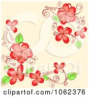 Clipart Pink Floral Background 22 Royalty Free Vector Illustration