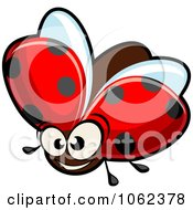 Clipart Smiling Ladybug Royalty Free Vector Illustration by Vector Tradition SM