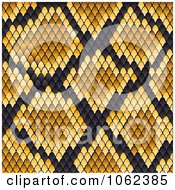 Clipart Yellow Snake Print Pattern Background Royalty Free Vector Illustration by Vector Tradition SM