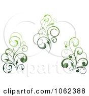 Clipart Green Flourish Digital Collage 6 Royalty Free Vector Clip Art Illustration