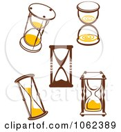 Clipart Hourglasses Digital Collage 1 Royalty Free Vector Illustration