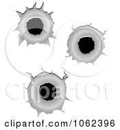 Clipart Bullet Holes Digital Collage Royalty Free Vector Illustration