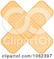 Clipart Crossed Bandages 1 Royalty Free Vector Illustration