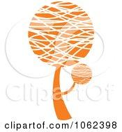 Clipart Orange Tree Logo 4 Royalty Free Vector Illustration