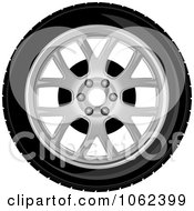 Clipart Car Tire And Rim 2 Royalty Free Vector Illustration