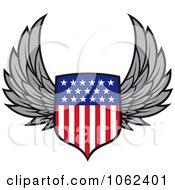 Winged American Shield