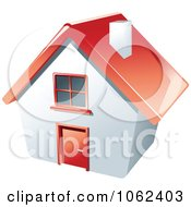 Clipart 3d Red Roofed House Royalty Free Vector Illustration
