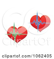 Clipart Hearts And Beats Digital Collage Royalty Free Vector Illustration