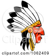 Clipart Native American Headdress 1 Royalty Free Vector Illustration