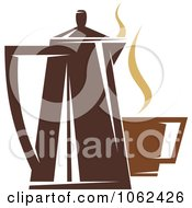 Clipart Coffee Logo 4 Royalty Free Vector Illustration