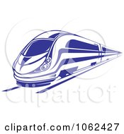 Clipart Blue Subway Train 3 Royalty Free Vector Illustration