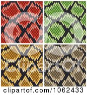 Clipart Snake Print Pattern Backgrounds Digital Collage Royalty Free Vector Illustration by Vector Tradition SM