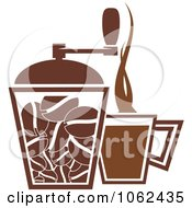 Clipart Coffee Logo 1 Royalty Free Vector Illustration by Vector Tradition SM