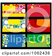 Clipart Business Card Layouts Digital Collage 3 Royalty Free Vector Illustration by Vector Tradition SM