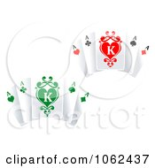 Clipart Ace Playing Cards Digital Collage Royalty Free Vector Illustration
