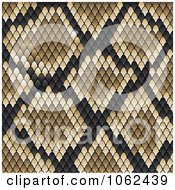 Clipart Brown Snake Print Pattern Background Royalty Free Vector Illustration by Vector Tradition SM