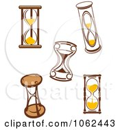 Clipart Hourglasses Digital Collage 2 Royalty Free Vector Illustration