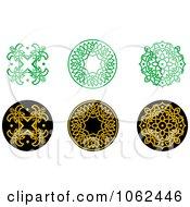 Clipart Greek Design Elements Digital Collage 7 Royalty Free Vector Illustration