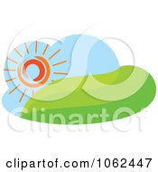 Clipart Spring Landscape Logo 1 Royalty Free Vector Illustration