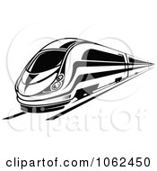 Clipart Subway Train In Black And White 6 Royalty Free Vector Illustration