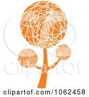 Clipart Orange Tree Logo 3 Royalty Free Vector Illustration