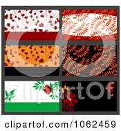 Clipart Business Card Layouts Digital Collage 2 Royalty Free Vector Illustration