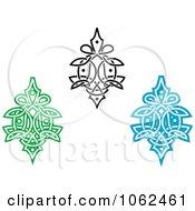 Clipart Greek Design Elements Digital Collage 1 Royalty Free Vector Illustration