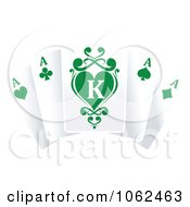 Clipart Ace Playing Cards 2 Royalty Free Vector Illustration