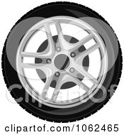 Clipart Car Tire And Rim 1 Royalty Free Vector Illustration
