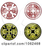 Clipart Greek Design Elements Digital Collage 4 Royalty Free Vector Illustration