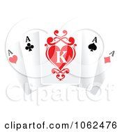 Clipart Ace Playing Cards 1 Royalty Free Vector Illustration