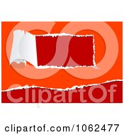 Clipart Torn Paper On Orange And Red Royalty Free Vector Illustration