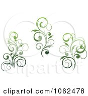 Clipart Green Flourish Digital Collage 2 Royalty Free Vector Clip Art Illustration