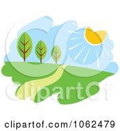 Clipart Spring Landscape Logo 2 Royalty Free Vector Illustration