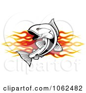 Clipart Fish And Flames Banner 1 Royalty Free Vector Illustration