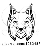 Clipart Bobcat In Black And White 1 Royalty Free Vector Illustration by Vector Tradition SM
