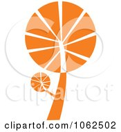 Clipart Orange Tree Logo 1 Royalty Free Vector Illustration