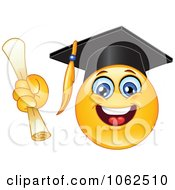 Clipart Emoticon Graduate Royalty Free Vector Illustration