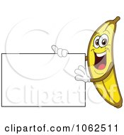 Clipart Banana Presenting A Sign Royalty Free Vector Illustration by yayayoyo