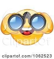 Clipart Emoticon Using Binoculars Royalty Free Vector Illustration