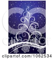 Clipart Purple Christmas Tree Background 1 Royalty Free Vector Illustration by Vector Tradition SM