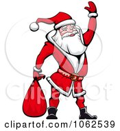 Clipart Santa Waving Royalty Free Vector Illustration by Vector Tradition SM