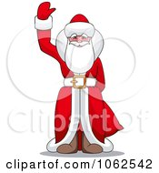 Clipart Santa Claus Waving Royalty Free Vector Illustration by Vector Tradition SM