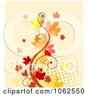 Clipart Autumn Background 2 Royalty Free Vector Clip Art Illustration